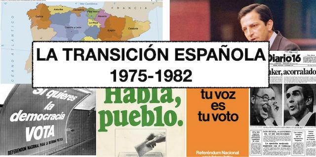 LA TRANSICIÓN A LA DEMOCRACIA 1975-1982